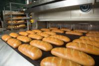 Consultanta finantare europeana pentru sectorul productie, un cuptor de paine plin cu paini coapte, gata sa fie scoase si ambalate.