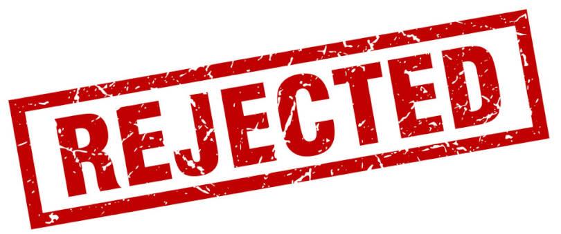MOtive pentru care iti poate fi respins proiectul Start-Up Nation - o stampila pe care scrie cu rosu REJECTED.