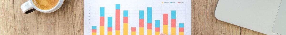 Un grafic in culori deschise albastru, galben si rosu prezinta situatia incasarilor firmei.Acesta este folosit pentru categoria de accesare fonduri norvegiene si see.